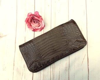 Vintage Clutch - Oversize Vintage Clutch - Mock Croc Clutch - Faux Leather Clutch - 70s Vintage Bag - Vintage Bag