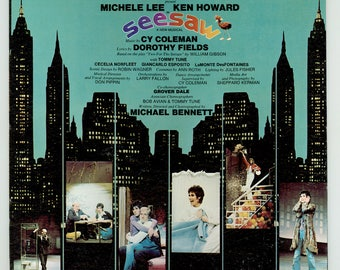 Seesaw, Original Broadway Cast Recording Starring Ken Howard, Michele Lee, Tommy Tune Music by Cy Coleman & Dorothy Fields Vintage LP Record
