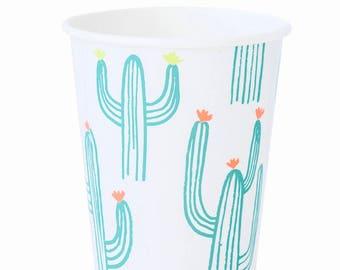 Cactus Cups - Mexican Fiesta Party Decor, Summer Table Decor, Taco Bar, Cinco de Mayo, Bachelorette Party Decorations, Southwest Wedding