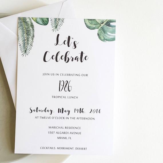 Tropical Party Invitation Suite