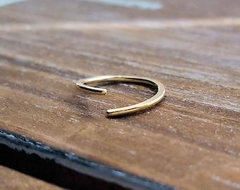 Endless Hoop 18g 14k Gold Filled Cartilage Earring, Tragus, Helix, Nose Ring, 8mm 9mm 10mm