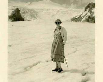 "Vintage Photo ""Summit Smiler"" Snapshot Antique Black & White Photograph Paper Found Ephemera Vernacular Interior Design Mood - 11"