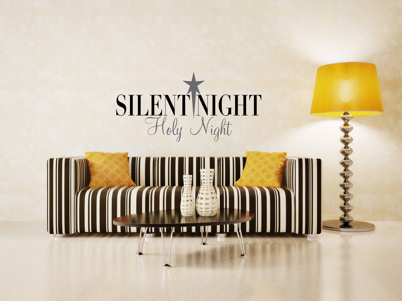 Silent Night Star Vinyl Art Decal Christmas Vinyl Art Decal - Custom vinyl wall decals christmas