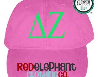 Delta Zeta Hat, Monogrammed Baseball Cap, Personalized Baseball Hat, Sorority Gift, Embroidered Ball Cap, Monogrammed Baseball Hat, DZ hat