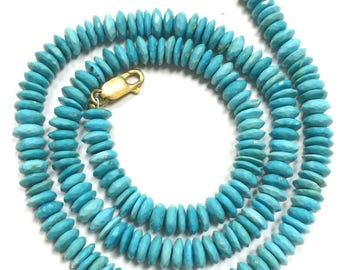 Sleeping Beauty Turquoise Faceted German Cut-6mm