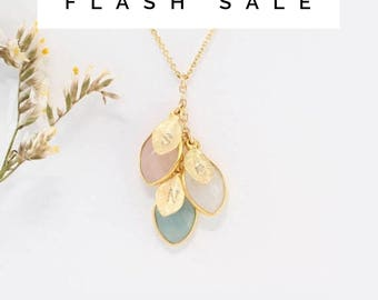 FLASH SALE - Custom Birthstone Necklace For Mom, Custom Initial Necklace, Mommy Necklace, Family Necklace, Personalized Cascade Necklace, Mo
