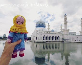 Crochet Amigurumi Doll Pattern PDF - Muslim amigurumi Islam Doll - Instant Download