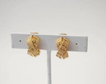 Dior Clip On Earrings - Gold Tone - Vintage - Christian Dior - France