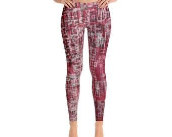 Schema Red Leggings, Full Length or Capri