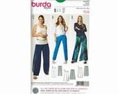Burda Style 6788 Uncut Sewing Pattern Pants Palazzo Layered OOP Sizes 18 20 22 24 26 28
