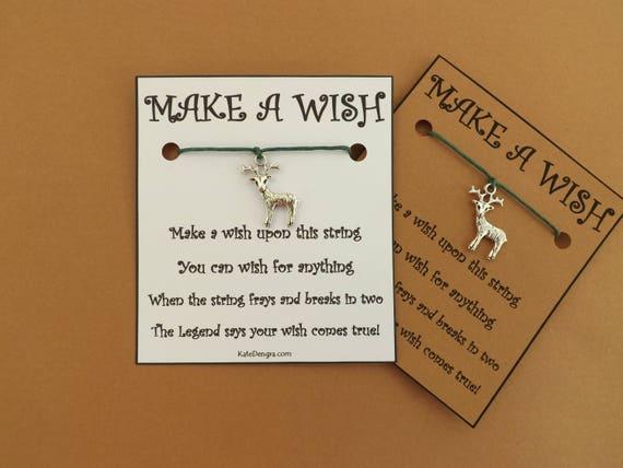 ST Reindeer Stag Deer Wish Bracelet