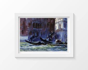 Cross Stitch Pattern Festa Della Regatta 25 x 17.25 inches, Boat Cross Stitch, Cross Stitch Collectibles