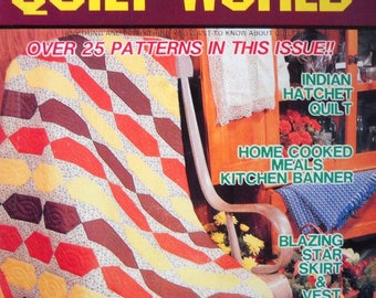 Quilt World Magazine Vintage June 1984 Quilting Patterns