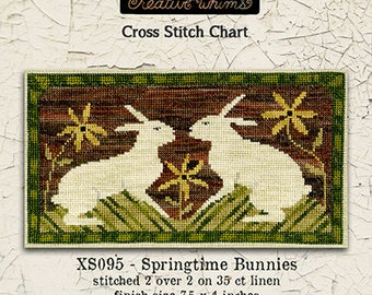NEW! TERESA KOGUT Springtime Bunnies counted cross stitch patterns at thecottageneedle.com Easter 2018 Nashville Market
