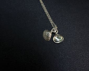 Small Silver Shell Locket Necklace - Sterling Silver