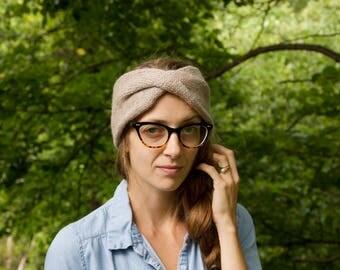 Knit Turban Headband, Turban, Twisted Earwarmer