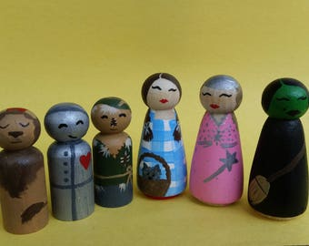 Wizard of Oz Painted Peg People