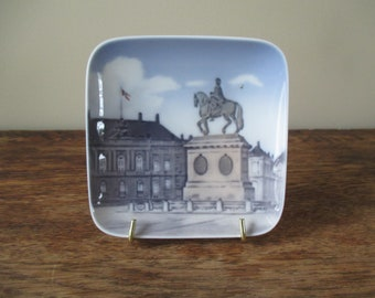 Royal Copenhagen Denmark Amalienboro Palace Plate with Stand