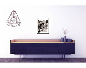 Large abstract art. Black and white poster. Large abstract print. Black and white abstract print. Home decor wall art. Large poster