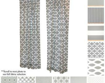 Window Curtains  Drapery Panel Pair  Storm Grey Curtains  Modern Drapes   Custom Curtains