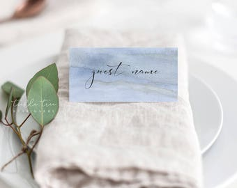 Place Cards/Reception Cards/Escort Cards - Blue Shores (Style 13761)