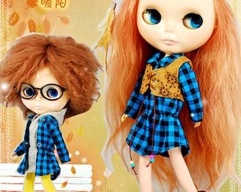 Clearance Sale - YAN - Brown Vest for Blythe doll