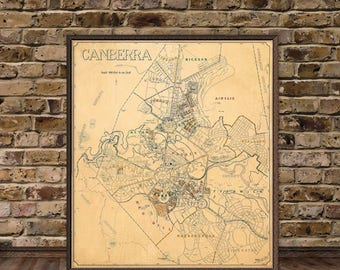 Vintage map of Bologna Bologna map Old map of Bologna
