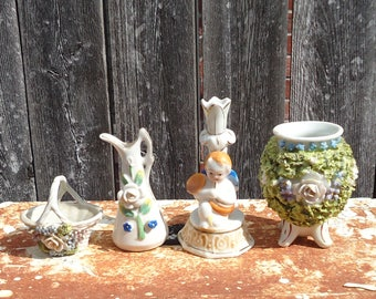 Vintage Lot of 4 Porcelain Decorative Knick Knacks