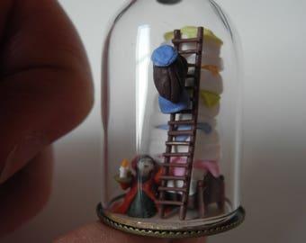 The Princess and the Pea Miniature Pendant