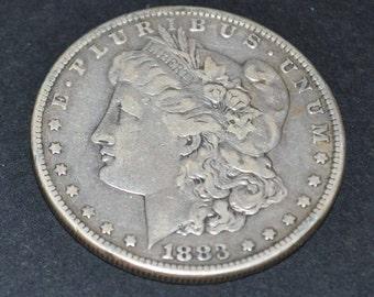 1883 Morgan Silver dollar Fine 15 condition