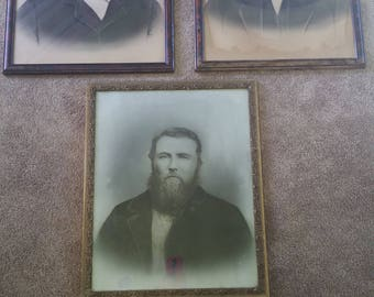 set of three creepy victorian portraits together or separate