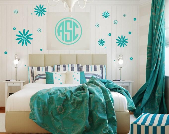 Daisy Decal | Teen Girl Room Decal | Nursery Decals | Daisy Decor | Flower Daisy | Flower Decal Sticker | Wall Decal