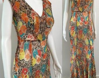 Stunning Original 1930's Silk Chiffon Gown