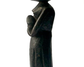 Primitive Folk Art Sculpture, Black Women Praying, Art Brut, Outsider Art, Black Americana, Praying, Prayer