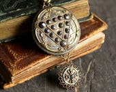 Antique Button pendant Br...