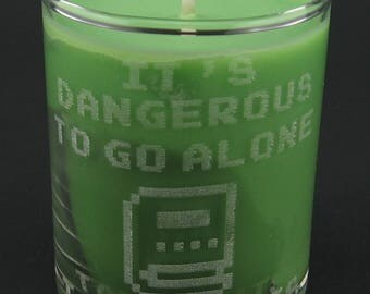 Legend of Zelda It's Dangerous to Go Alone Book of Mudora Mini Soy Container Candle