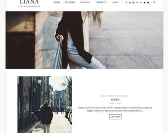 "Wordpress Theme, Wordpress Ecommerce Theme Responsive Blog Theme Design ""Liana"" - Genesis Website Theme"