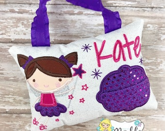Girls Tooth Fairy Pillow,  Personalized Girl Tooth Fairy Gift, Tooth Fairy Pillow, Princess Tooth Fairy Pillow, Girls Tooth Fairy Pillow,