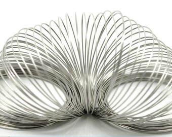 Memory Wire 0.8mm - Bracelet Wire - Steel Memory Wire - Silver Tone Memory Wire