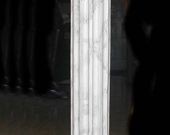 Corinthian Column Pedestal with Capital and Base : width 11 1/4; X depth 11 1/4; X 38 1/2; inches tall
