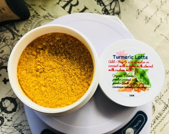 Turmeric Latte Organic Yummy Warm Delicious Great for the tummy and more read below