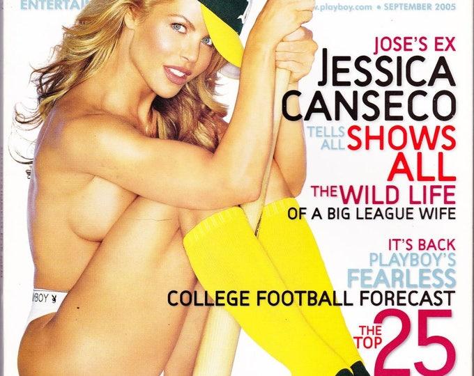 Playboy Magazine September 2005 with Jessica Canseco, Vanessa Hoelsher, Columnist Thomas L. Friedman, NASCAR's Kurt Busch