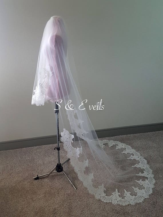 2 Tier Cathedral Veil with Lace