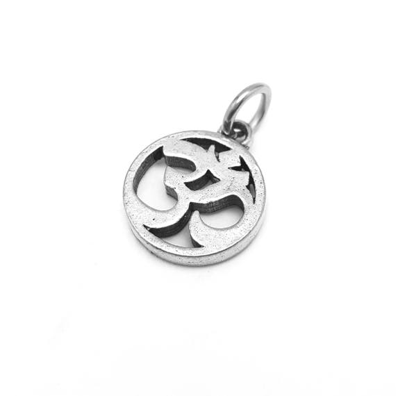 Om Circle Charm - Add a Charm to a Custom Charm Bracelets, Necklaces or Key Chains -  Nickel Free Charms