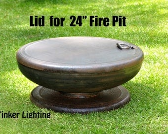 Lid for Fire Pit 24 inch, FirePit, Fire Pits, FirePits, Garden Planter Steel Fire Pit, Metal Fire Pit, Fire Bowl, Outdoor Fire Pit, Handmade