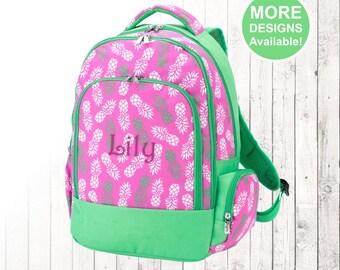 Personalized Pineapple Backpack, Monogrammed Backpack, Girls Backpack, Kids Backpack, Elementary School Backpack,