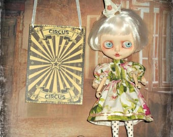 Blythe ~ Vintage Circus Inspired Smocked 2 Piece Outfit ~ By KarynRuby
