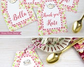 Tea Party Favor Tags Prin...