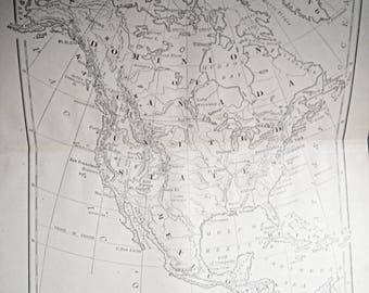 Old Mexico Map Etsy - Us in 1800 black and white map