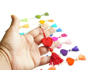 Tassel Charm, Tassel Bag Charm, Tassel Zipper Pull, Tassel Keychain, Purse Tassel Charm, Bag Charm, Tassel, Bridal Shower, Handbag Tassel